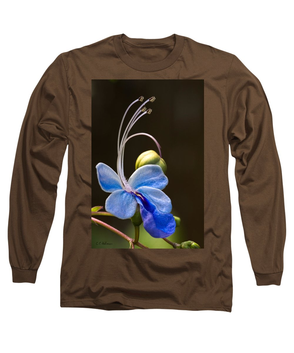 Flower Long Sleeve T-Shirt featuring the photograph Blooming Butterfly by Christopher Holmes