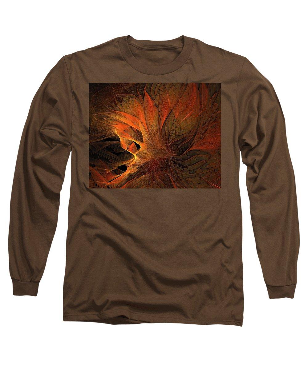 Digital Art Long Sleeve T-Shirt featuring the digital art Burn by Amanda Moore