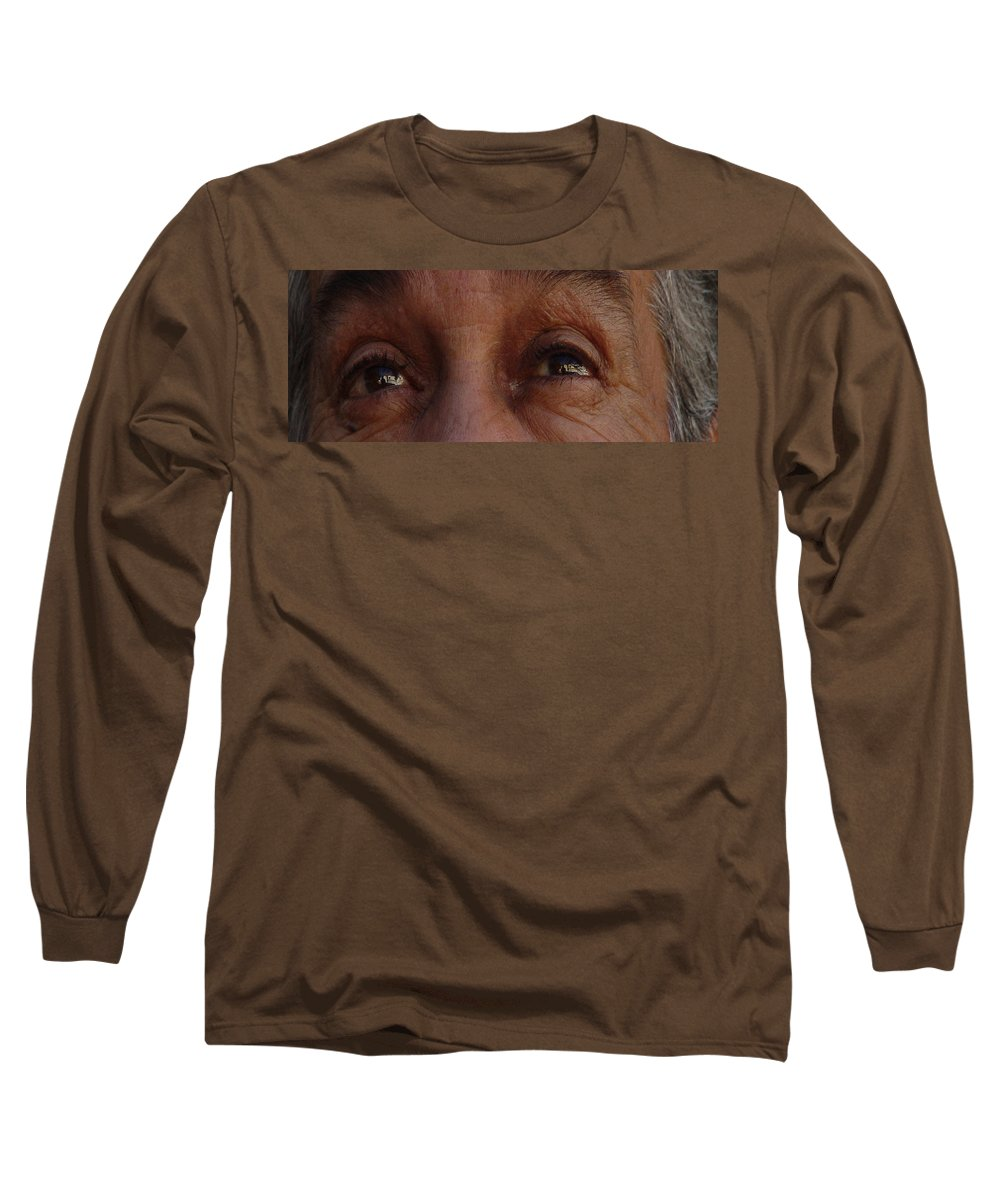 Eyes Long Sleeve T-Shirt featuring the photograph Burned Eyes by Peter Piatt