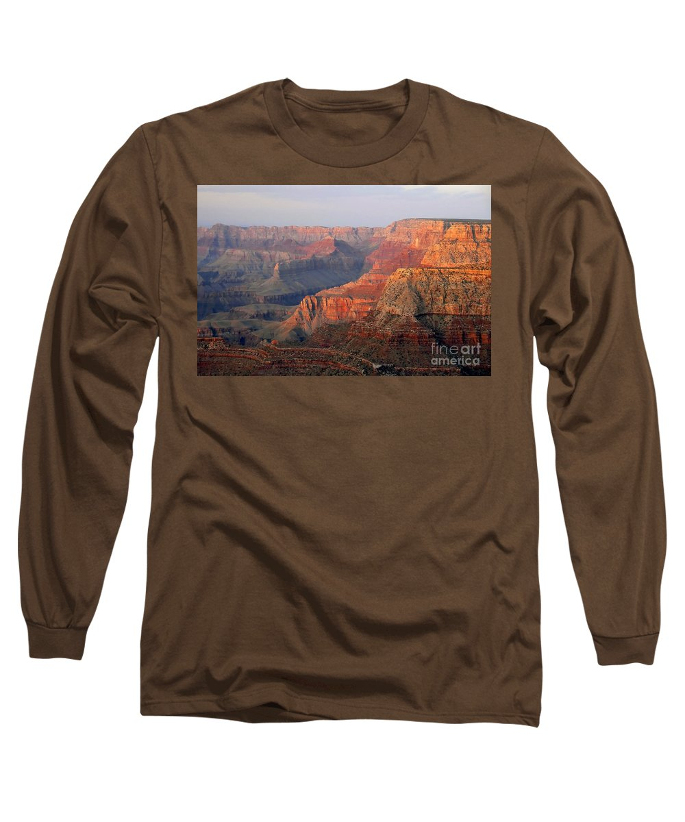Grand Canyon Long Sleeve T-Shirt featuring the photograph Canyon Dusk by David Lee Thompson