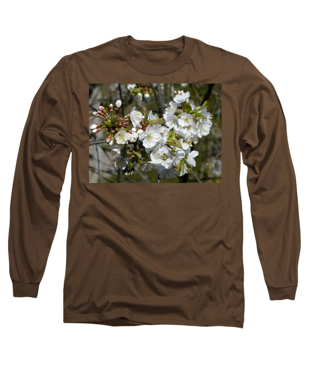 Cherry Long Sleeve T-Shirt featuring the photograph Cherry Blossom by Valerie Ornstein