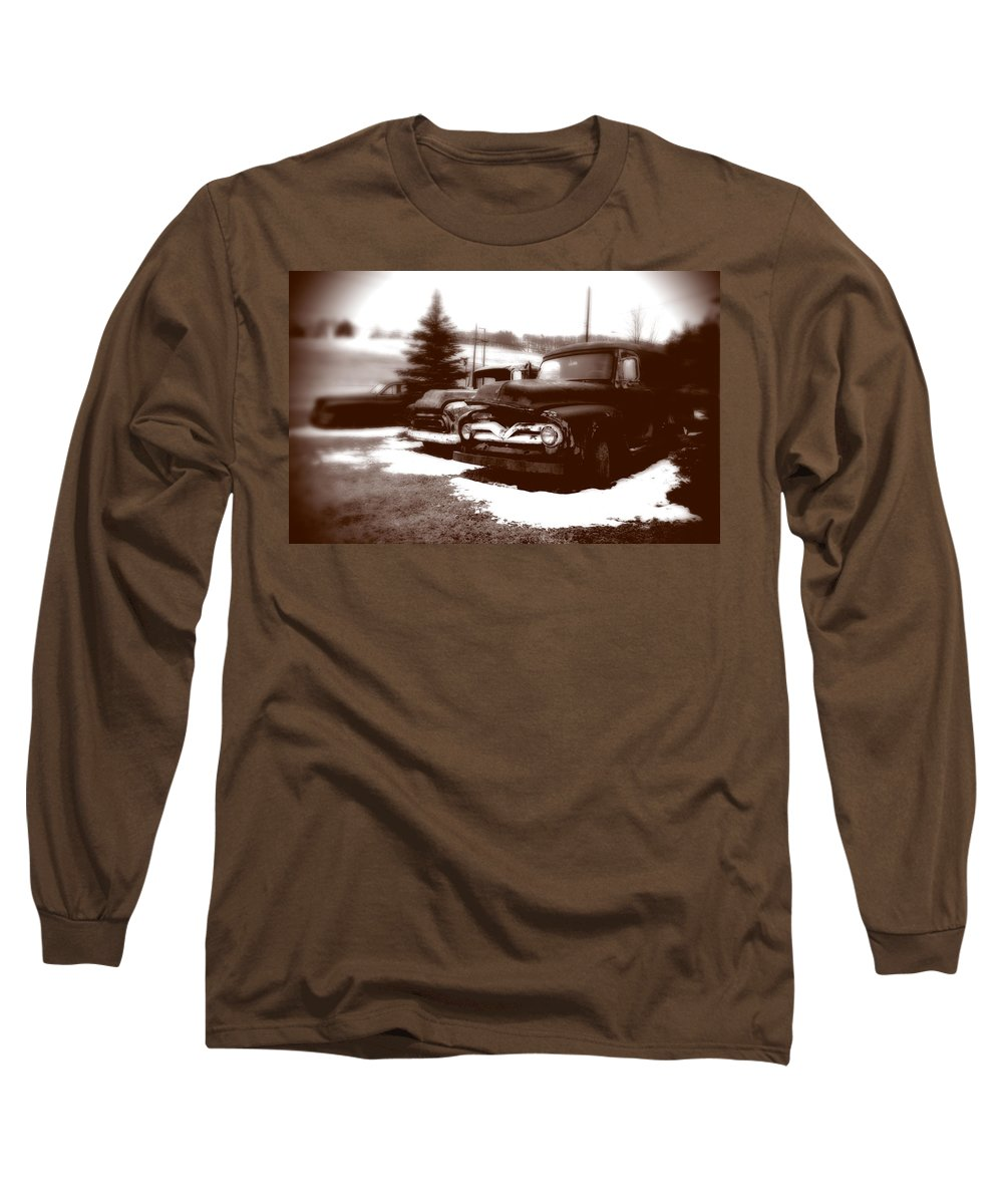 Old Cars Long Sleeve T-Shirt featuring the photograph Chocolate Ghosts by Jean Macaluso