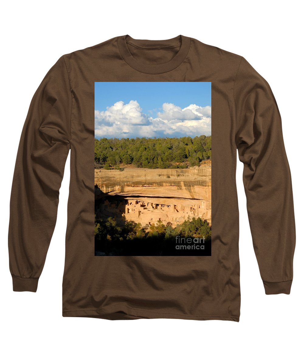 Cliff Palace Long Sleeve T-Shirt featuring the photograph Cliff Palace Landscape by David Lee Thompson