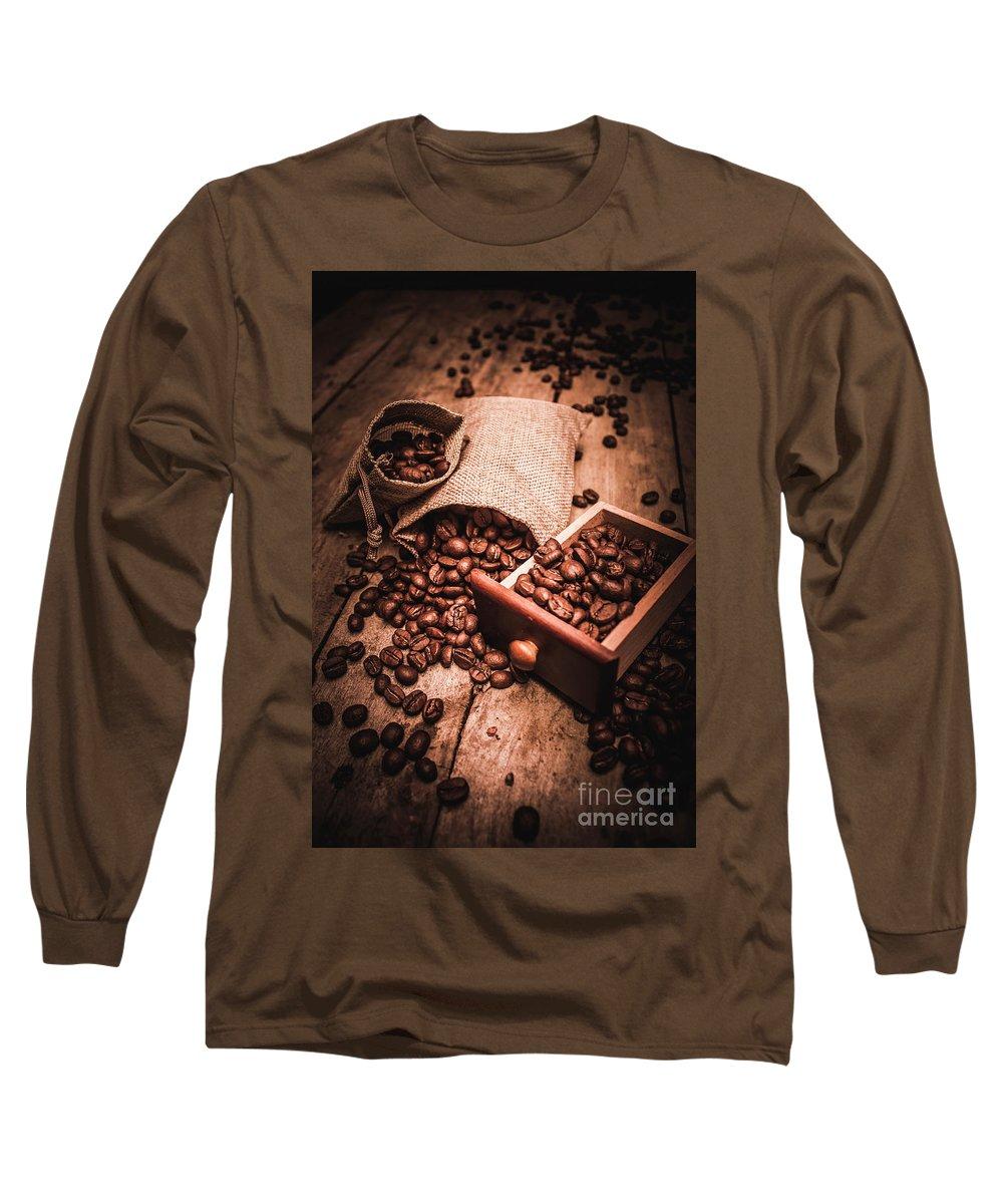 Art Long Sleeve T-Shirt featuring the photograph Coffee Bean Art by Jorgo Photography - Wall Art Gallery
