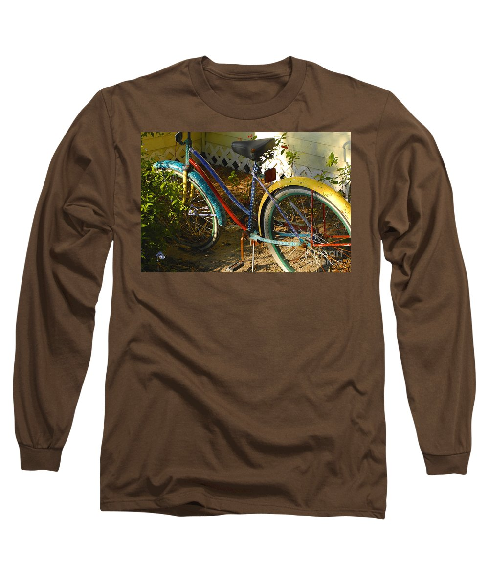 Bicycle Long Sleeve T-Shirt featuring the photograph Colorful Bike by David Lee Thompson