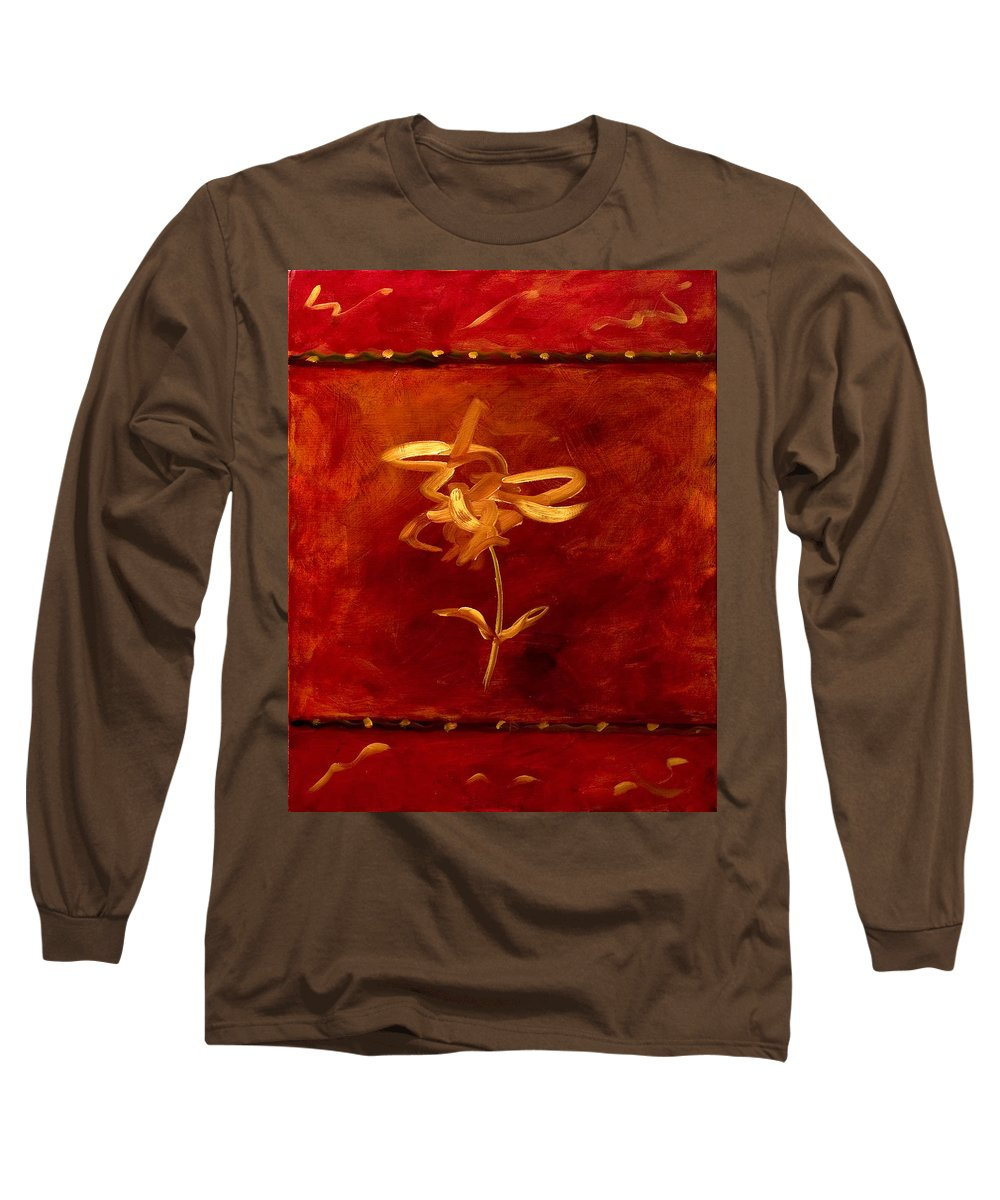Abstract Long Sleeve T-Shirt featuring the painting Confidence by Shannon Grissom