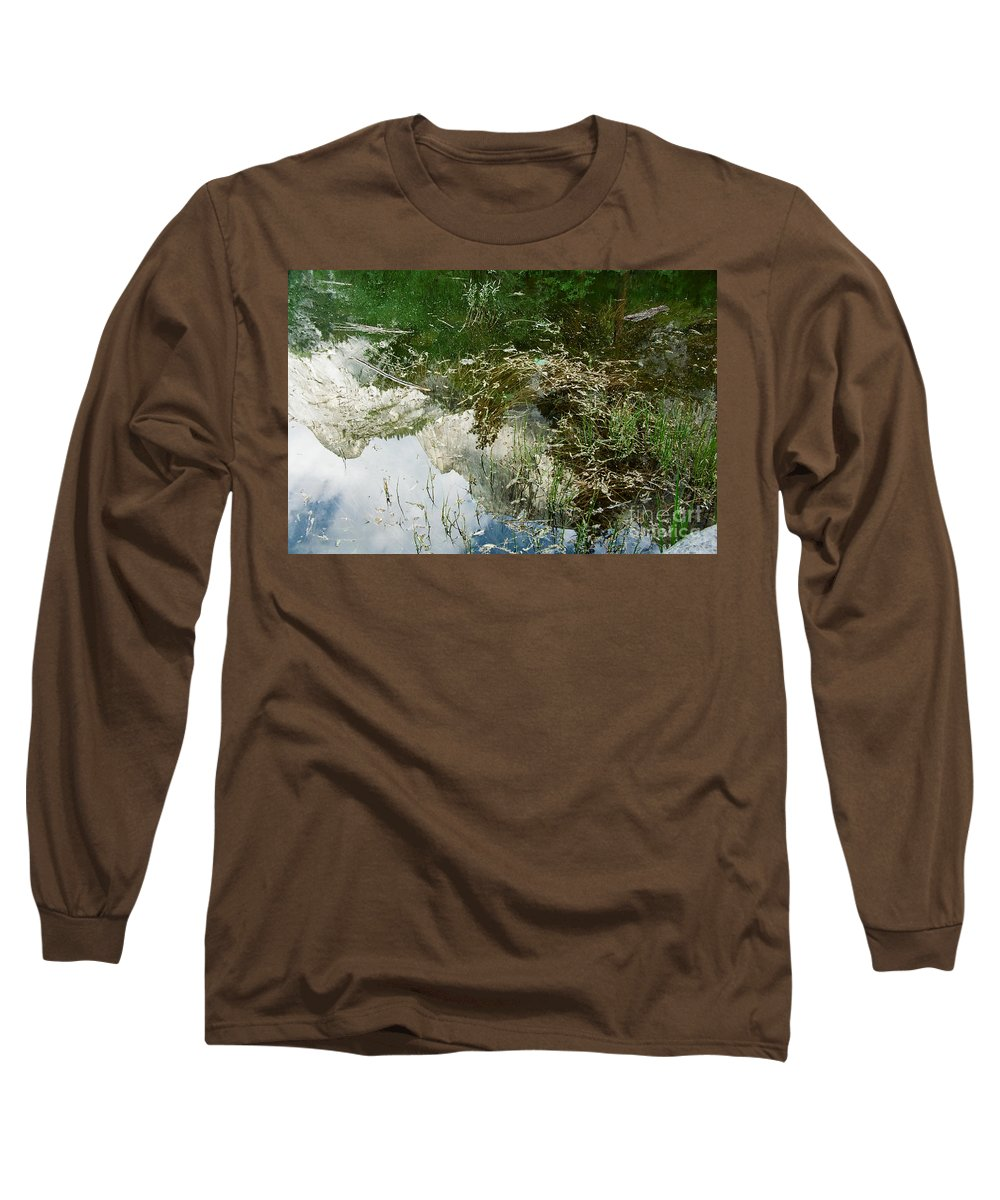 Mirror Lake Long Sleeve T-Shirt featuring the photograph Confusion by Kathy McClure