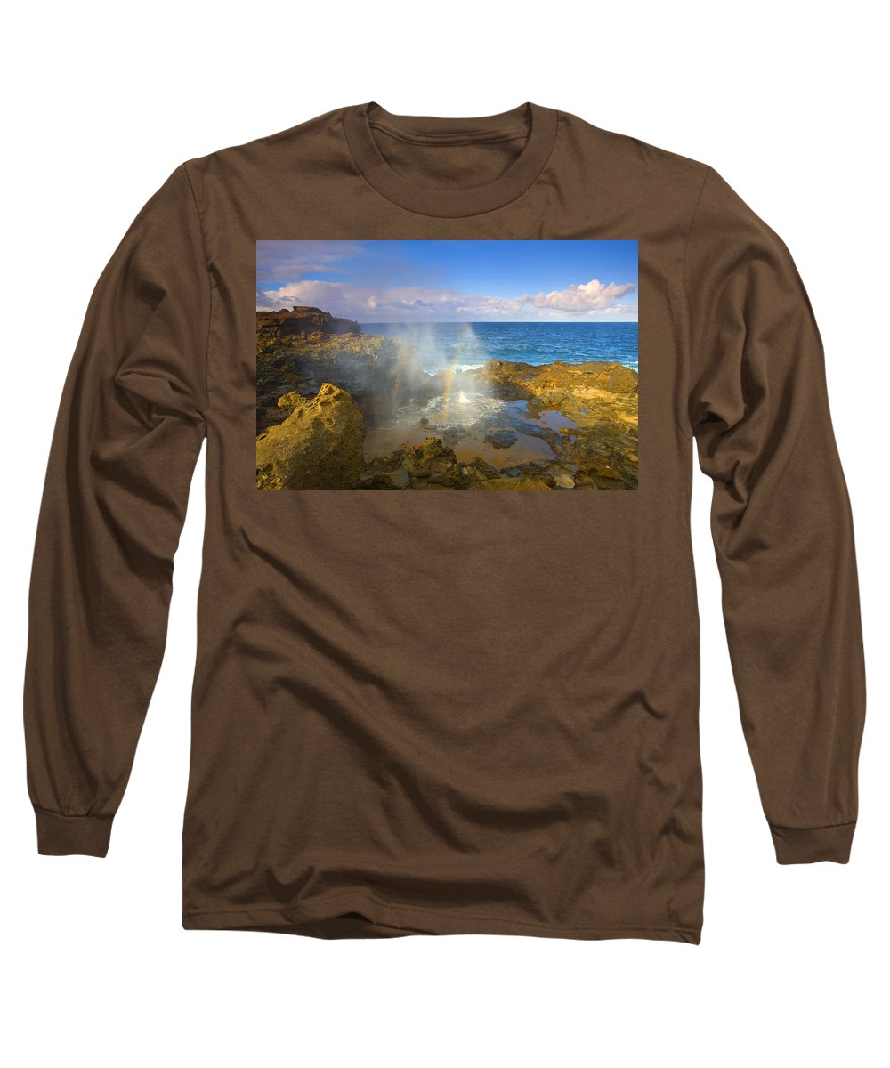 Blowhole Long Sleeve T-Shirt featuring the photograph Creating Miracles by Mike Dawson