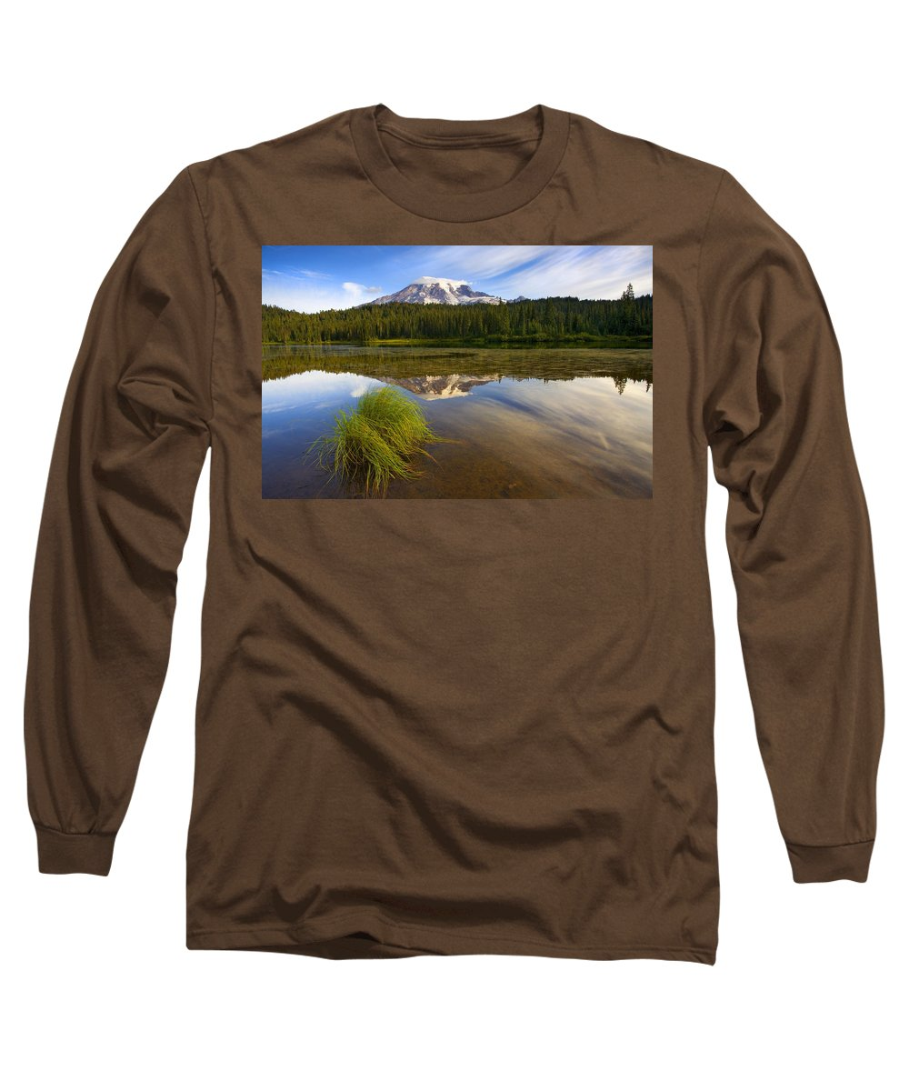 Lake Long Sleeve T-Shirt featuring the photograph Crystal Clear by Mike Dawson