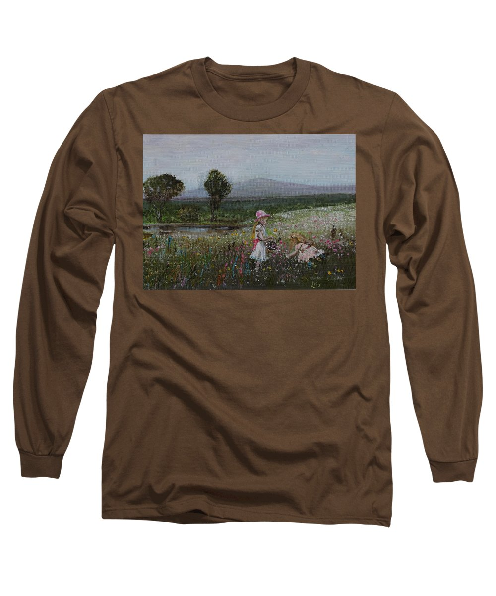 Impressionist Long Sleeve T-Shirt featuring the painting Delights Of Spring - Lmj by Ruth Kamenev