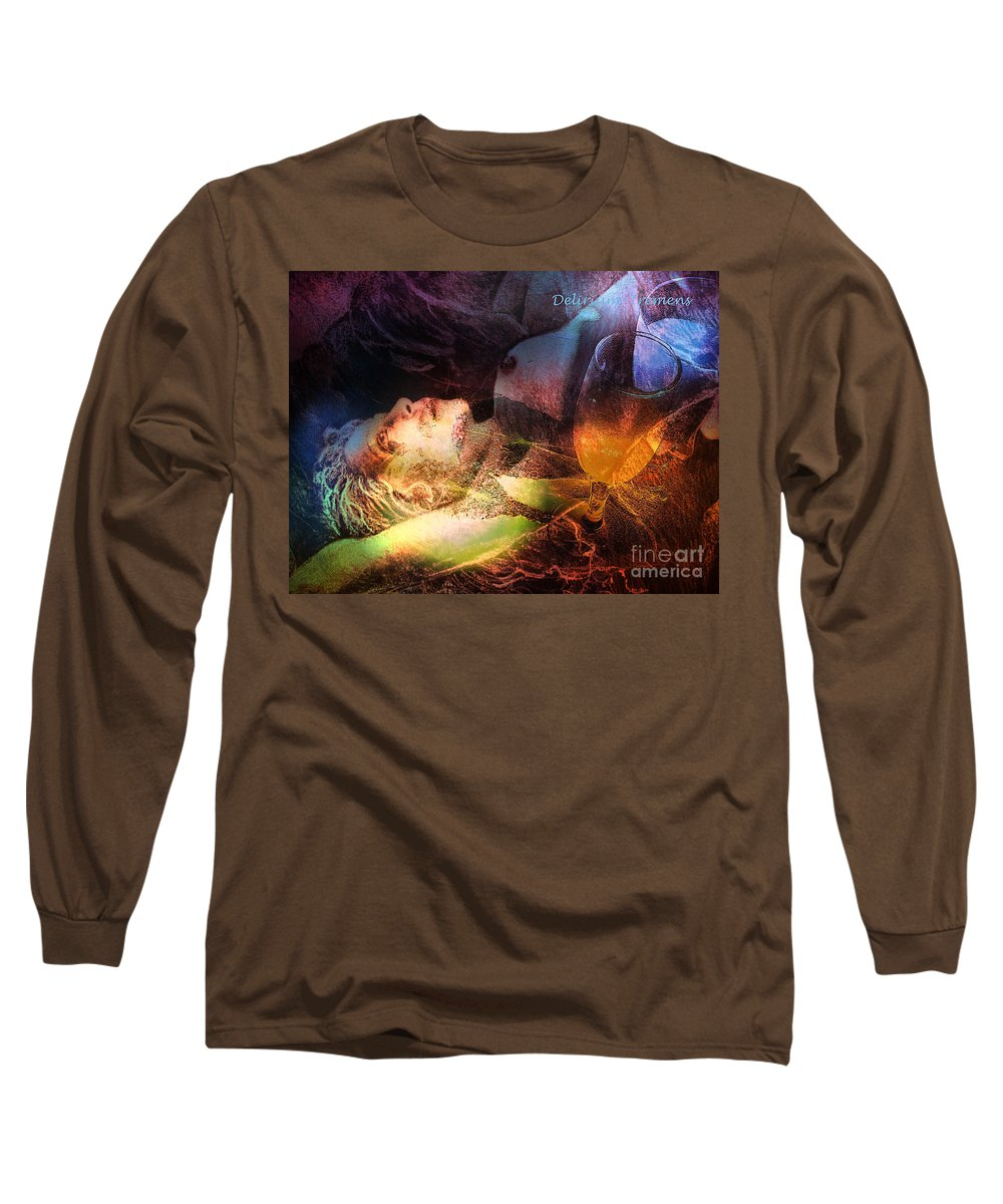 Fantasy Long Sleeve T-Shirt featuring the painting Delirium Tremens by Miki De Goodaboom