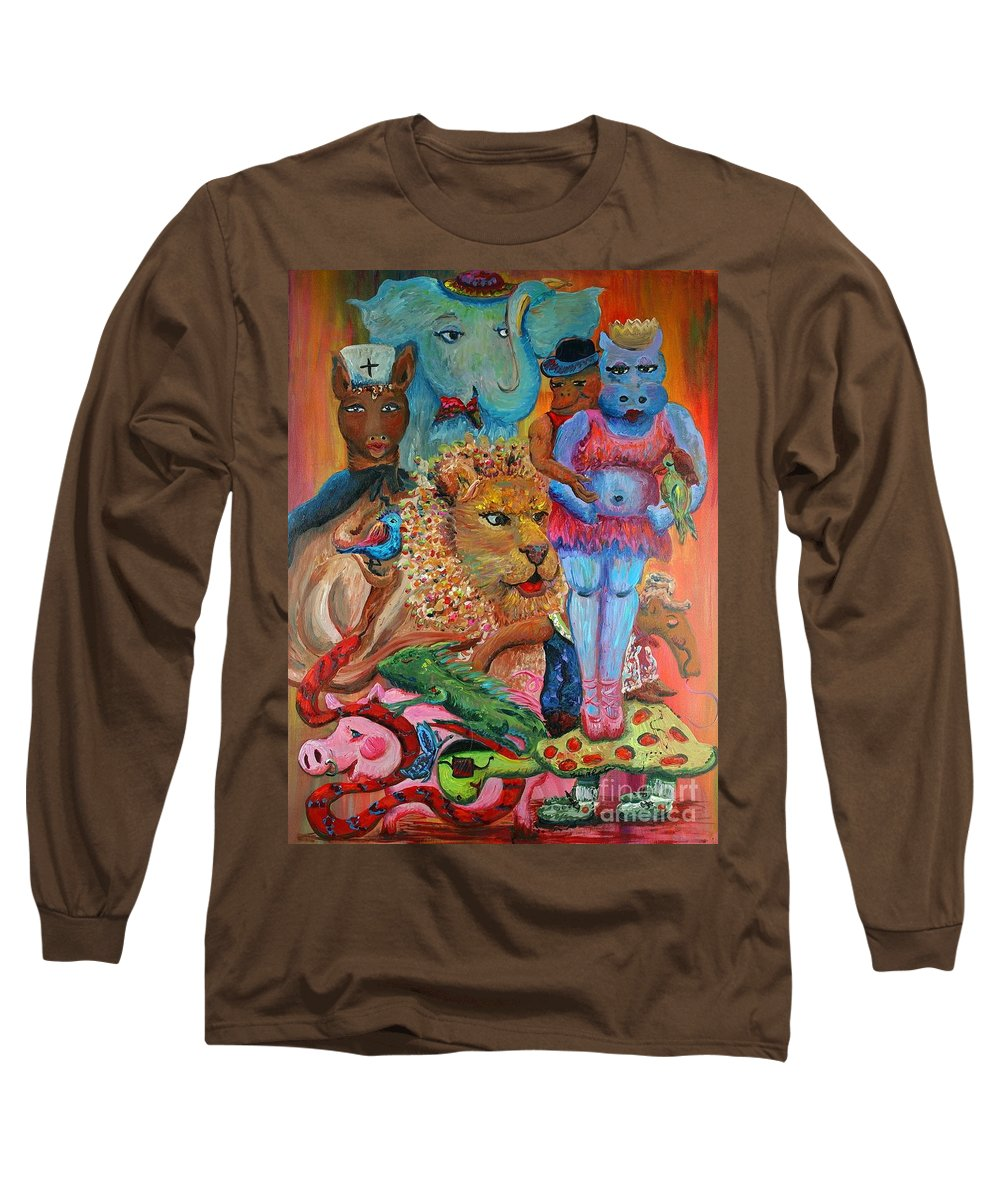 Diversity Long Sleeve T-Shirt featuring the painting Diversity by Nadine Rippelmeyer