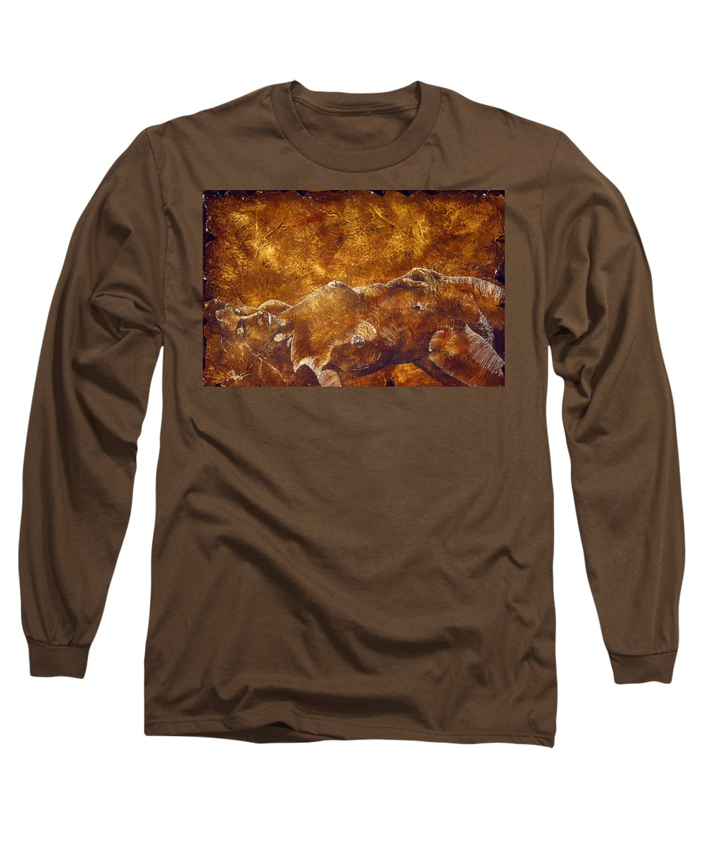 Nude Long Sleeve T-Shirt featuring the painting Dorothy Iv by Richard Hoedl