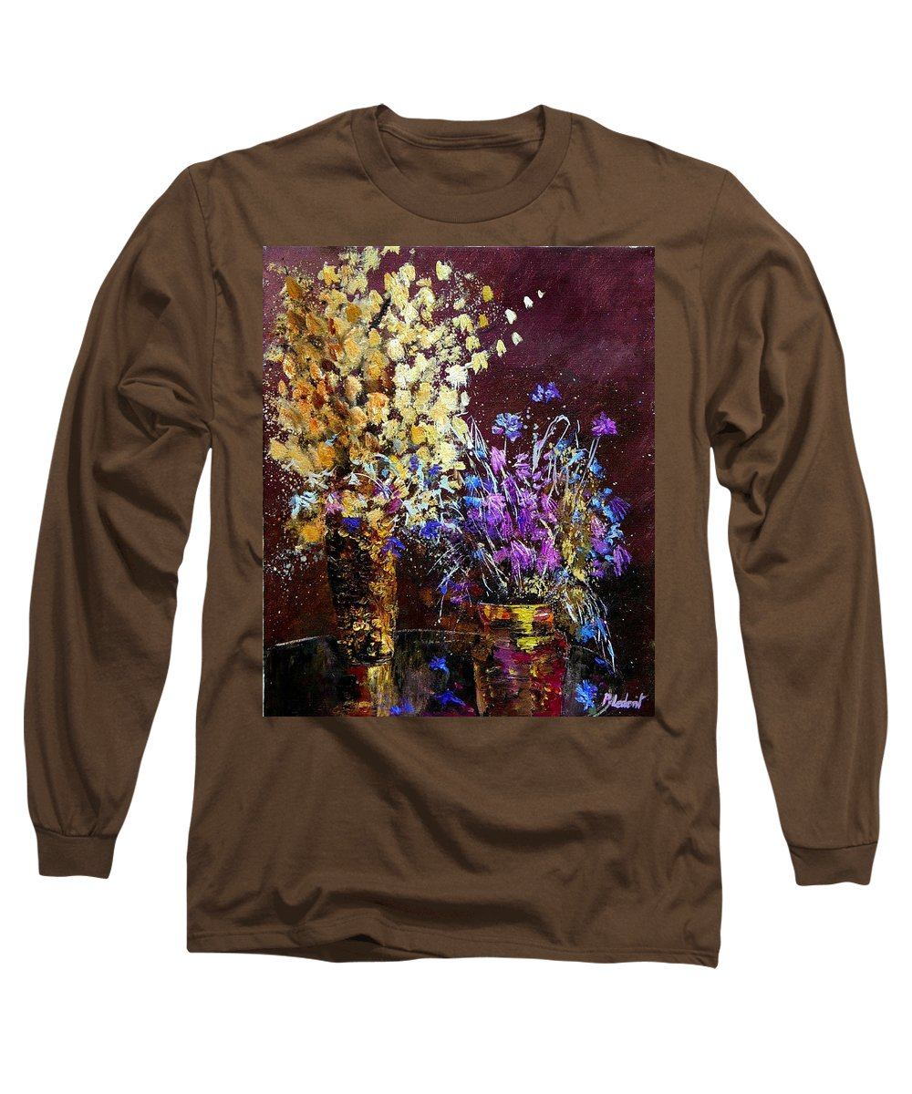 Flowers Long Sleeve T-Shirt featuring the painting Dried Flowers by Pol Ledent