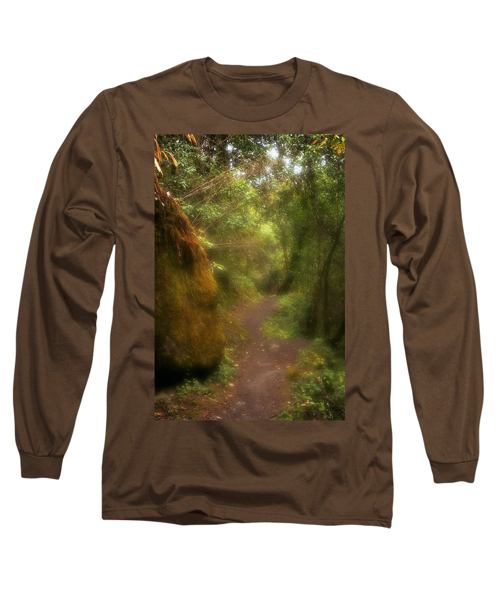 Path Long Sleeve T-Shirt featuring the photograph El Camino by Patrick Klauss