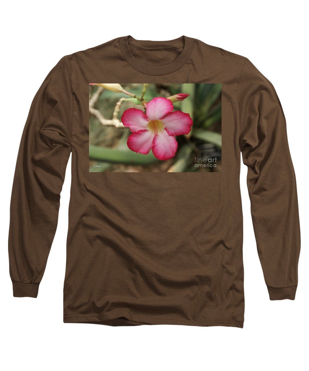 Floral Long Sleeve T-Shirt featuring the photograph Elegant by Shelley Jones