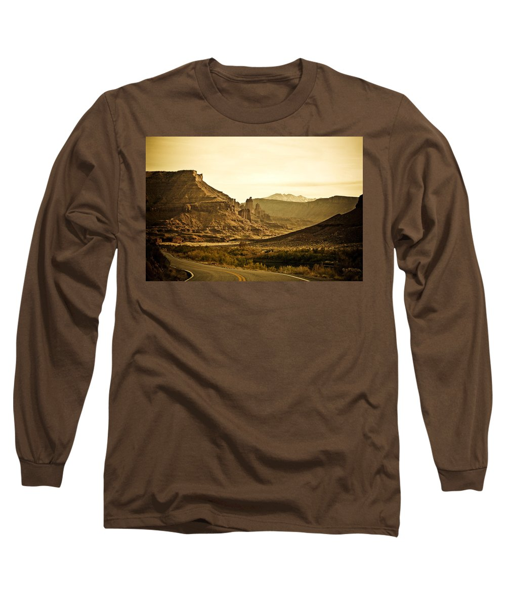 Americana Long Sleeve T-Shirt featuring the photograph Evening In The Canyon by Marilyn Hunt
