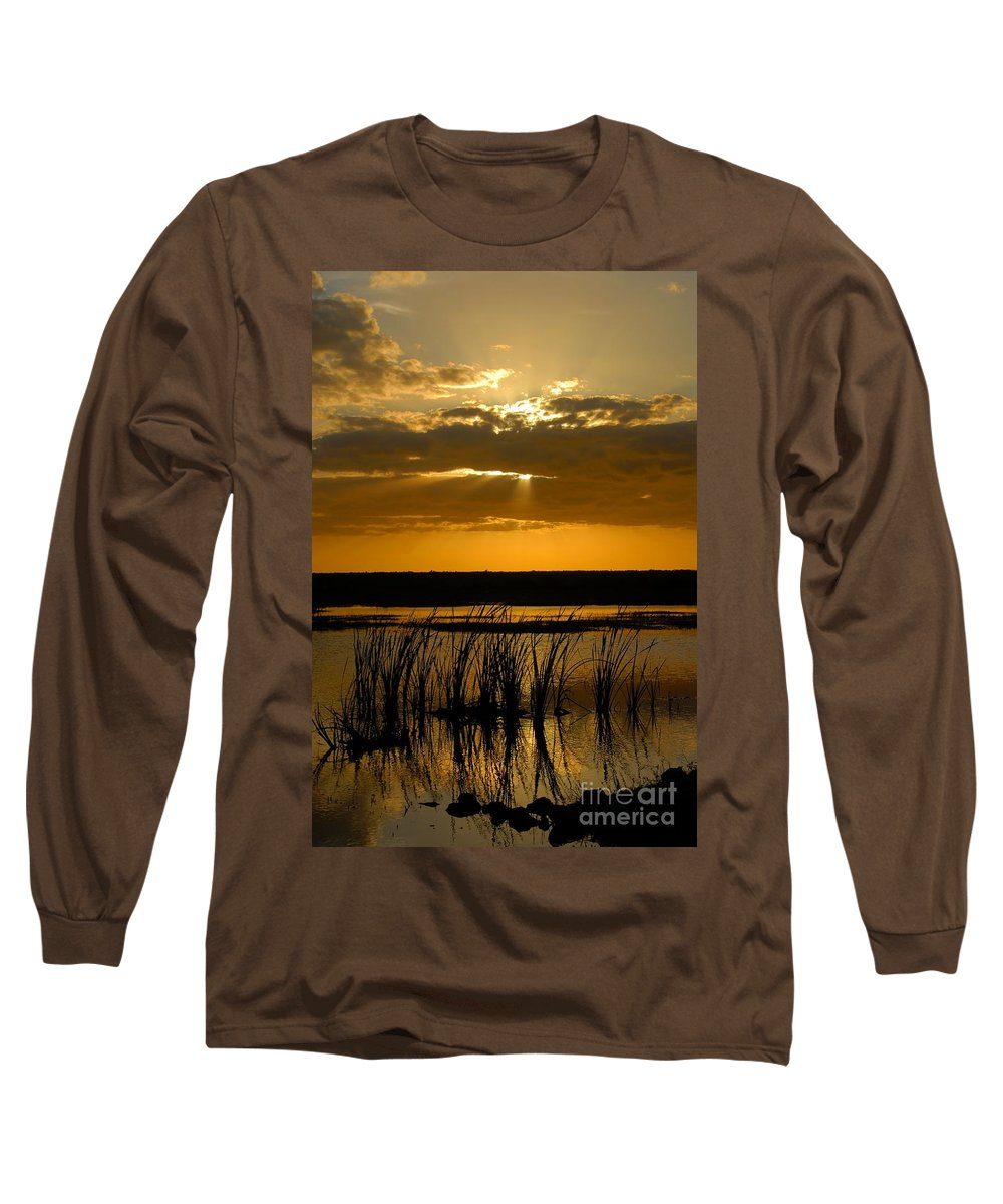 Everglades National Park Florida Long Sleeve T-Shirt featuring the photograph Everglades Evening by David Lee Thompson