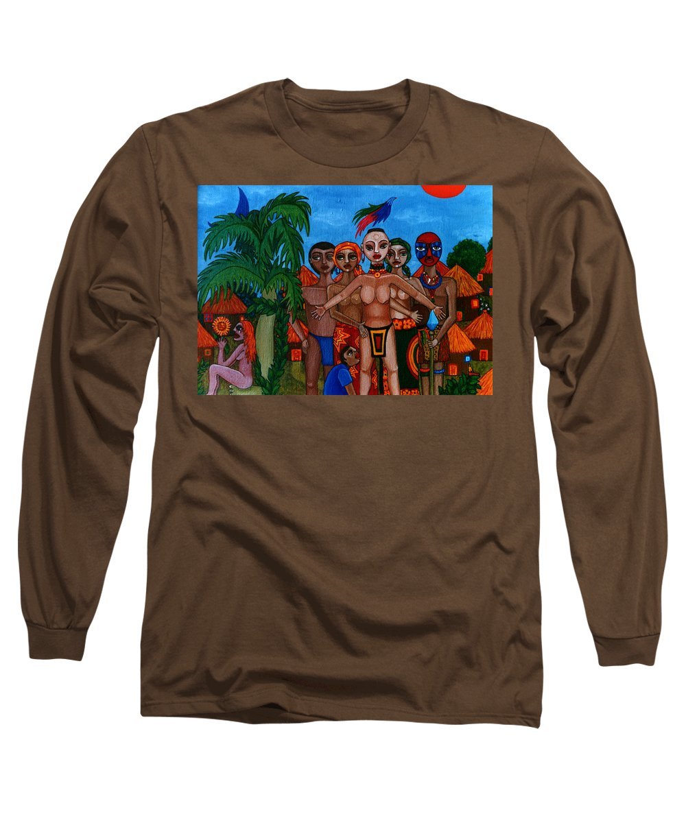 Homeland Long Sleeve T-Shirt featuring the painting Exiled In Homeland by Madalena Lobao-Tello