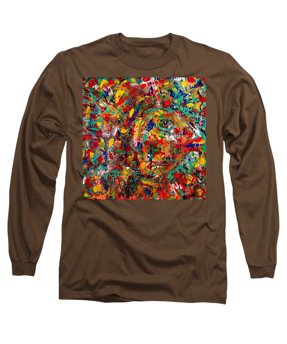 Abstract Long Sleeve T-Shirt featuring the painting Eye Of The Beholder by Natalie Holland