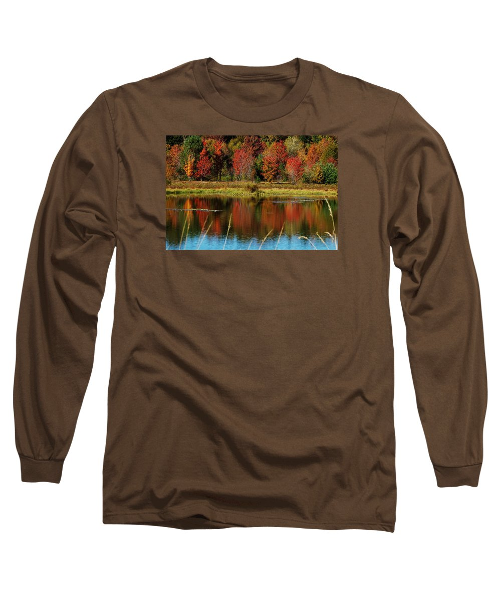 Autumn Long Sleeve T-Shirt featuring the photograph Fall Splendor by Linda Murphy