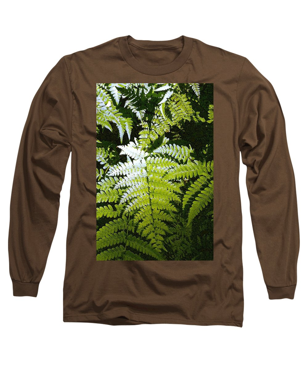 Ferns Long Sleeve T-Shirt featuring the photograph Ferns by Nelson Strong