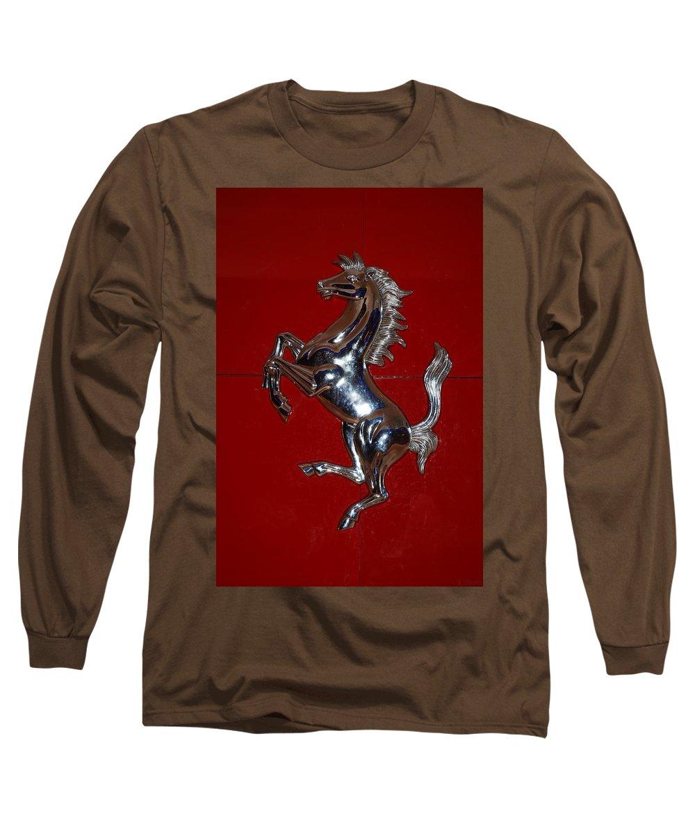 Pop Art Long Sleeve T-Shirt featuring the photograph Ferrari Stallion by Rob Hans