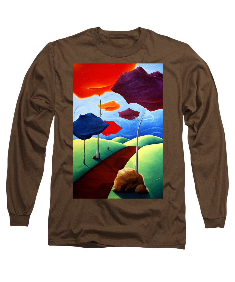 Landscape Long Sleeve T-Shirt featuring the painting Finding Your Way by Richard Hoedl