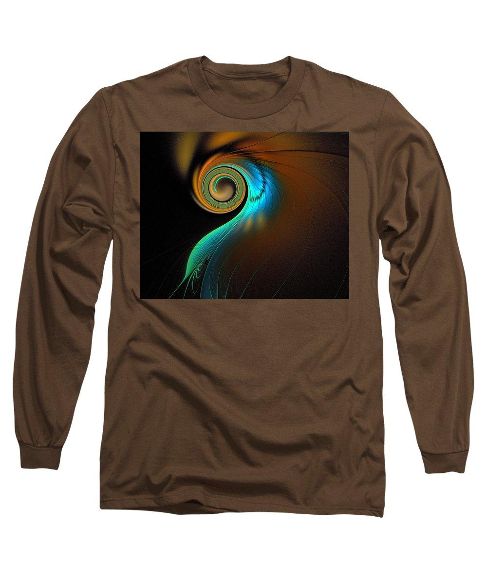 Digital Art Long Sleeve T-Shirt featuring the digital art Fine Feathers by Amanda Moore