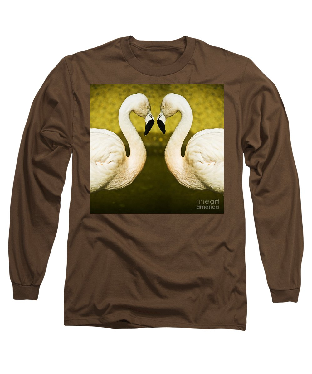 Flamingo Long Sleeve T-Shirt featuring the photograph Flamingo Reflection by Avalon Fine Art Photography