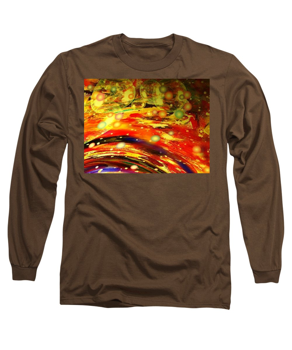 Galaxy Long Sleeve T-Shirt featuring the digital art Galaxy by Natalie Holland
