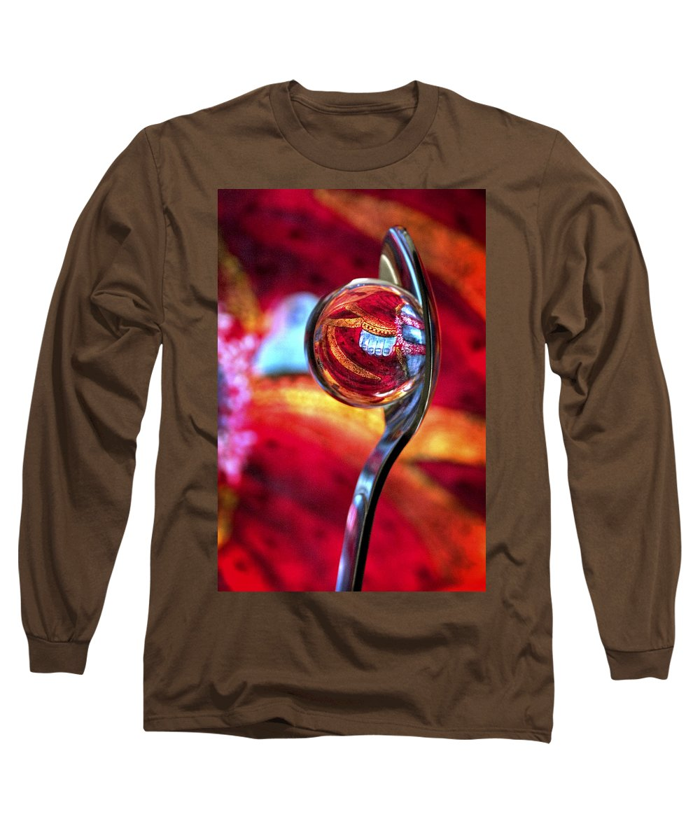 Ball Long Sleeve T-Shirt featuring the photograph Ganesh Spoon by Skip Hunt
