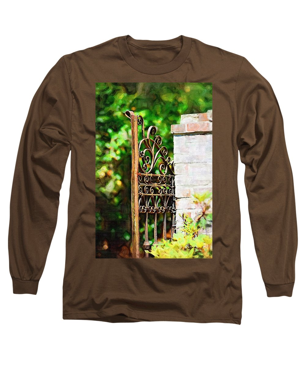 Gardens Long Sleeve T-Shirt featuring the photograph Garden Gate by Donna Bentley
