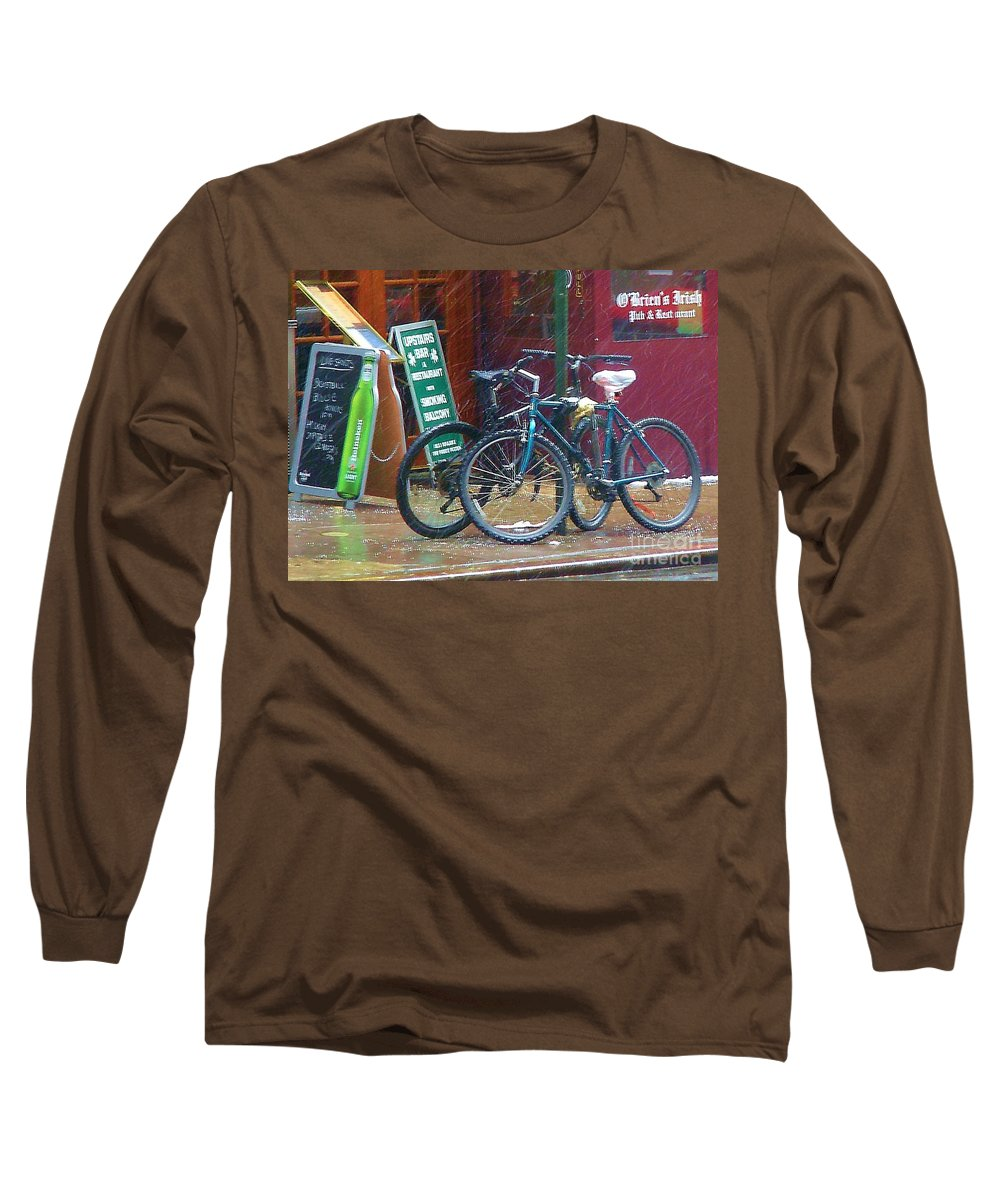 Bike Long Sleeve T-Shirt featuring the photograph Give Me Shelter by Debbi Granruth