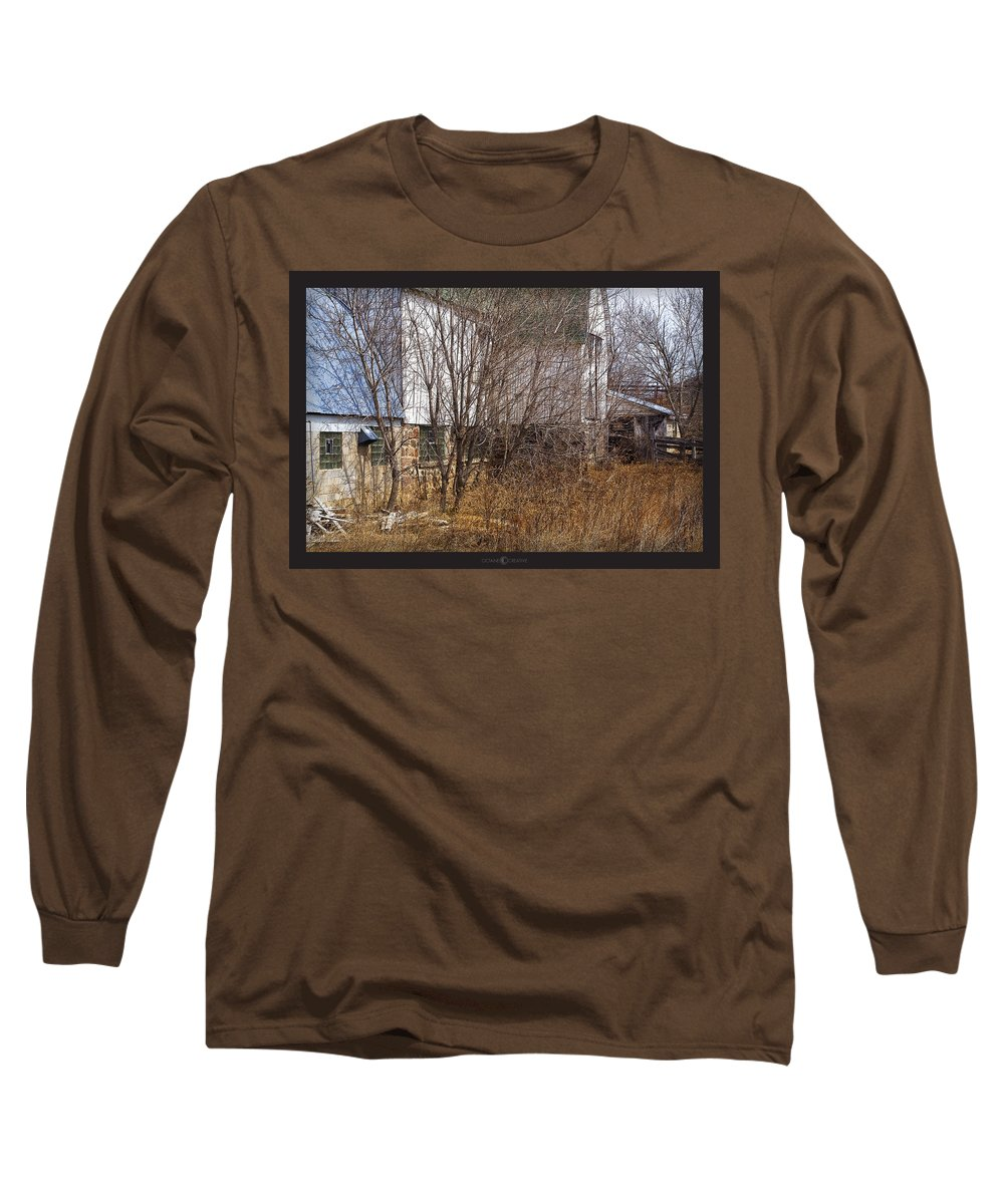 Barn Long Sleeve T-Shirt featuring the photograph Glass Block by Tim Nyberg