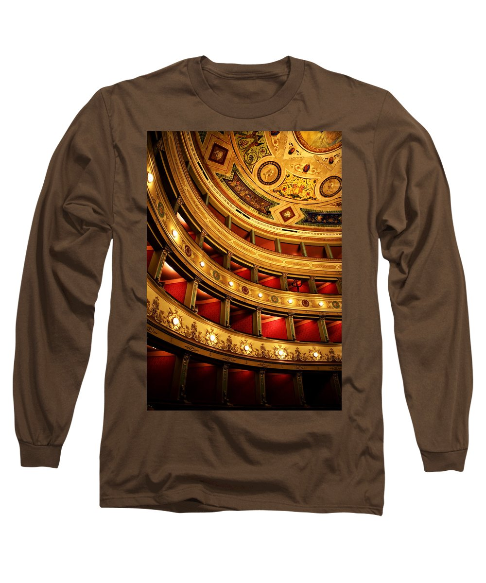 Theatre Long Sleeve T-Shirt featuring the photograph Glorious Old Theatre by Marilyn Hunt