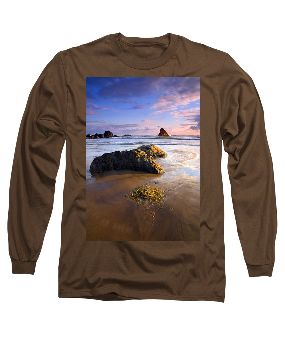 Beach Long Sleeve T-Shirt featuring the photograph Golden Coast by Mike Dawson