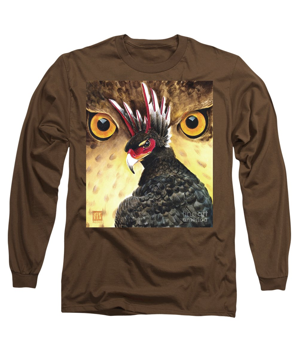 Griffin Long Sleeve T-Shirt featuring the painting Griffin Sight by Melissa A Benson