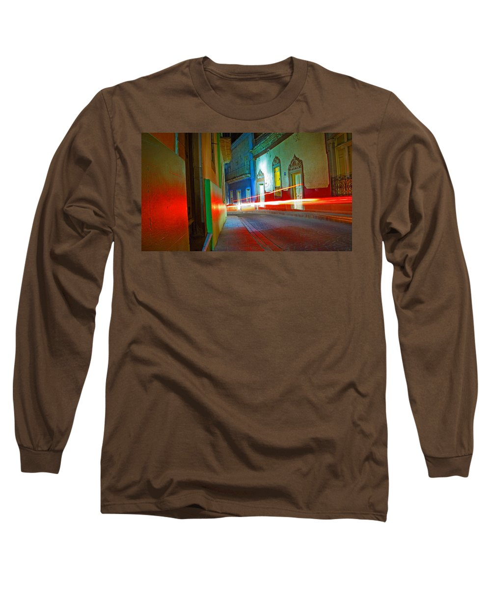 Shadow Long Sleeve T-Shirt featuring the photograph Guanajuato Night by Skip Hunt