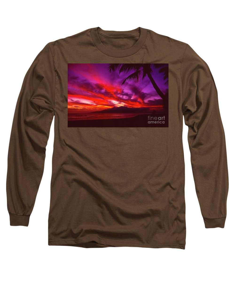 Landscapes Long Sleeve T-Shirt featuring the photograph Hand Of Fire by Jim Cazel