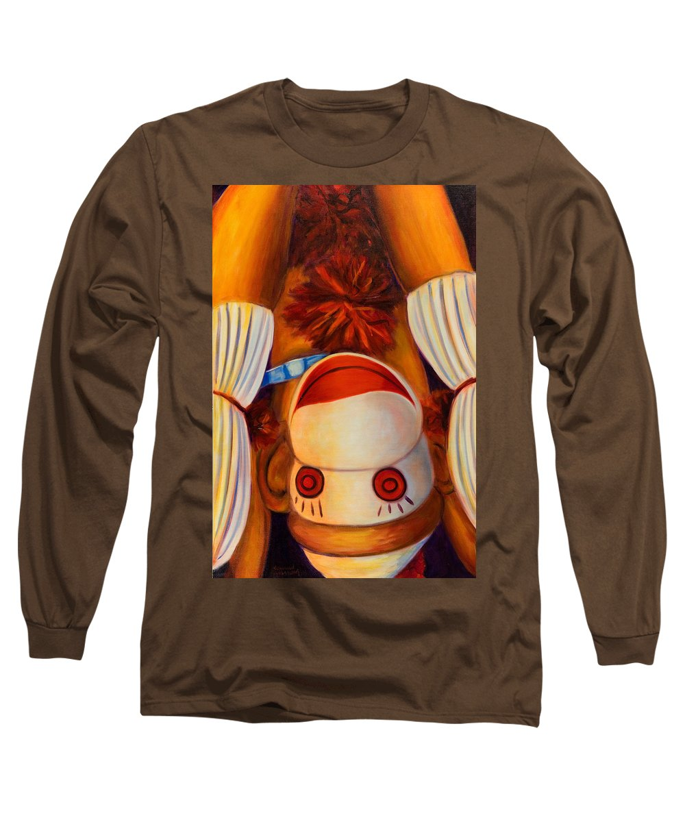 Children Long Sleeve T-Shirt featuring the painting Head-over-heels by Shannon Grissom