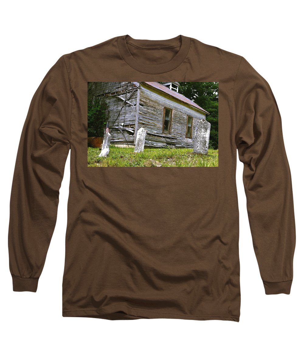 Church Long Sleeve T-Shirt featuring the photograph Hocking Hills Church by Nelson Strong