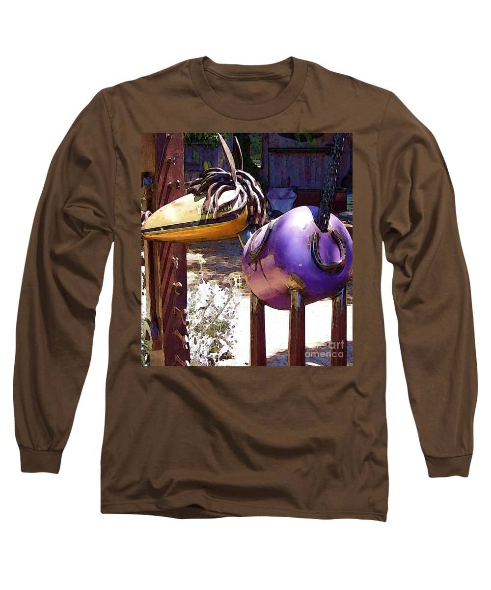 Sculpture Long Sleeve T-Shirt featuring the photograph Horse With No Name by Debbi Granruth