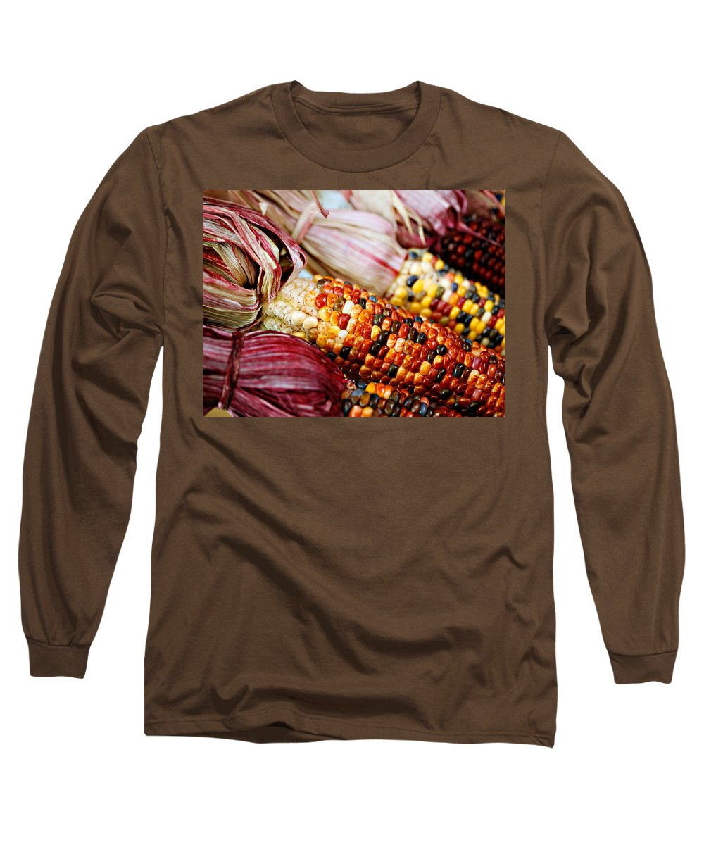 Corn Long Sleeve T-Shirt featuring the photograph Indian Corn by Marilyn Hunt