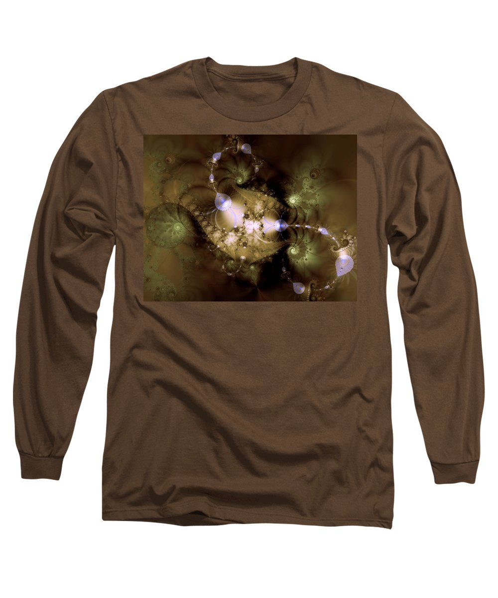 Dimension Long Sleeve T-Shirt featuring the digital art Intergalactica by Casey Kotas