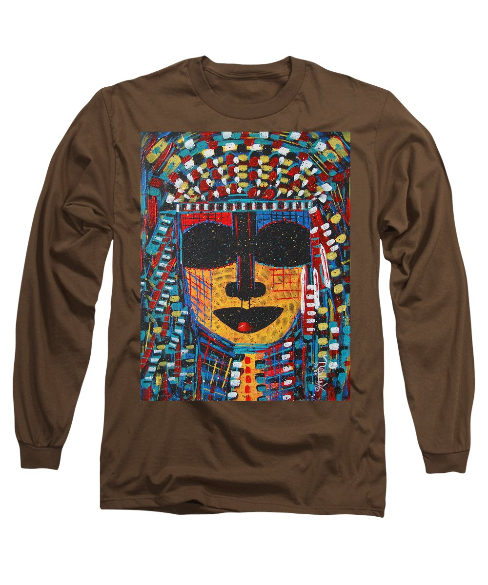 Abstract Long Sleeve T-Shirt featuring the painting Isatoria by Natalie Holland
