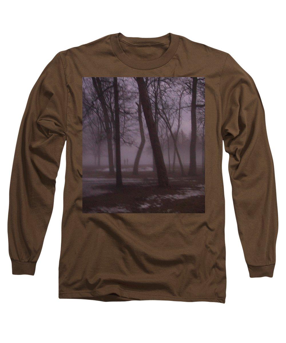 January Long Sleeve T-Shirt featuring the photograph January Fog 1 by Anita Burgermeister