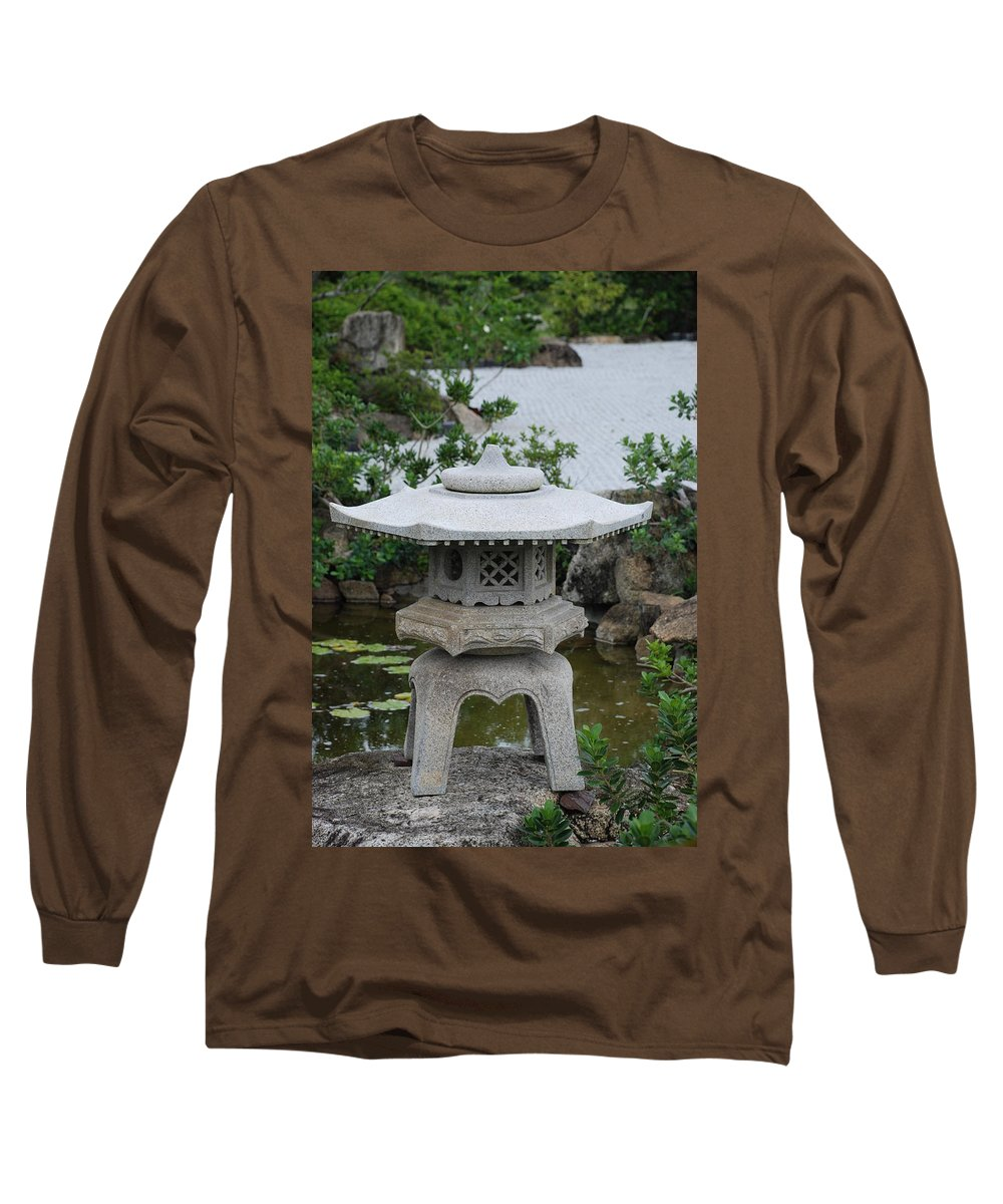 Rocks Long Sleeve T-Shirt featuring the photograph Japanese Lantern by Rob Hans
