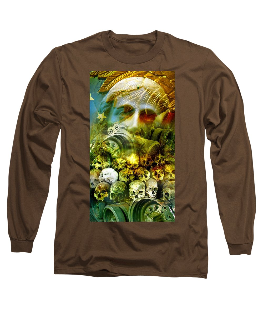 Jesus Long Sleeve T-Shirt featuring the photograph Jesus Wept by Skip Hunt