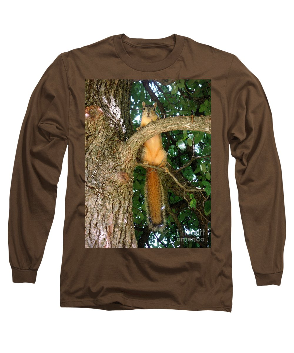 Nature Long Sleeve T-Shirt featuring the photograph Just Hanging Around by Lucyna A M Green